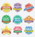 Flat color badges and labels promotion design vector image
