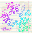 Floral twirl postcard with flowers vector image vector image