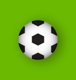football 3d flat design icon vector image