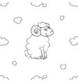 furry sheep flying in the sky vector image vector image