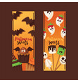 halloween collection fear creepy vector image vector image