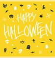 hallween card lettering and icon vector image