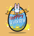 Happy Easter Bunny design vector image