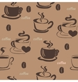 Hiqh quality original seamless pattern with coffee vector image