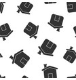 house building icon seamless pattern background vector image