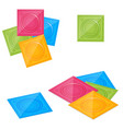 isometric packaging with a condom set latex vector image