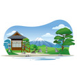 japan traditional garden vector image