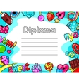 Kawaii diploma with sweets and candies Crazy vector image vector image
