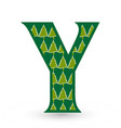letter y christmas festive font icon vector image