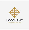 luxury snowflake logo icon template vector image vector image