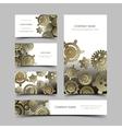 Mechanic business cards set vector image
