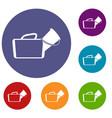 medical bag icons set vector image vector image