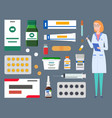 medical staff therapist woman physician with vector image vector image