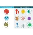 Medicine icon cell vector image vector image