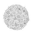 Mendie Mandala with flowers and leaves Zenart vector image vector image