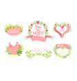 mothers day elegant card templates set holiday vector image vector image