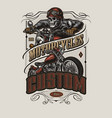 motorcycle colorful vintage badge vector image vector image