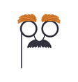 mustache and glasses humor mask masquerade vector image