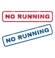 No Running Rubber Stamps vector image vector image