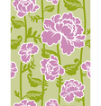 Pink roses background Seamless pattern of flowers vector image vector image