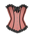 pink sexy corset vector image vector image