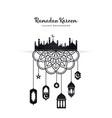 ramadan background vector image vector image
