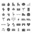 retro solid web icons vector image vector image