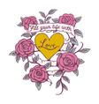 Rose Banner Love Design vector image vector image