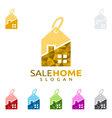 sale home logo real estate logo home house vector image vector image