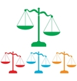 Scales of Justice sign vector image