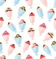 Seamless Pattern with Colorful Ice Creams vector image