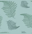 seamless pattern with fern vector image vector image