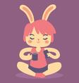 Serene Bunny Relaxing vector image vector image