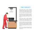 service poster working process vector image
