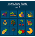 Set agriculture farming icons vector image vector image
