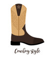 shoes with text cowboy style vector image vector image