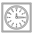Square wall clock icon outline style vector image vector image