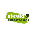 stevia leaves symbol natural organic sweetener vector image vector image