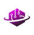 technology logo simple tech design vector image vector image