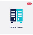 two color sportive lockers icon from american