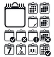 Wall Calendar Icons Set vector image