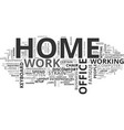 why a good home office setup is essential vector image vector image