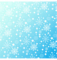 winter pattern of snowflakes on a blue background vector image vector image