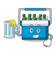 with juice freezer bag mascot cartoon vector image
