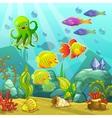 Cartoon underwater landscape vector image