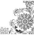 Eastern motif in black and white vector image