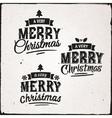 Christmas Set Of Typographic Design vector image