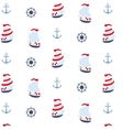Seamless pattern in marine style vector image