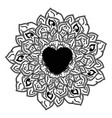 outline mandala for coloring book decorative vector image