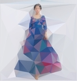 a Girl in a dress Triangle style vector image vector image